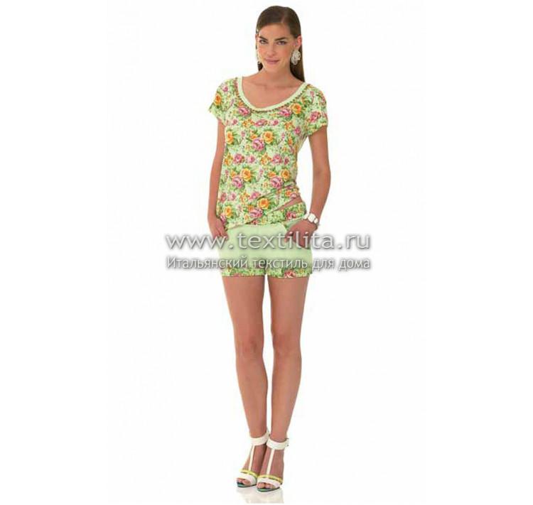 42d55288967 Итальянские женские хлопковые костюмы с шортами