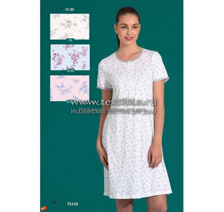 1b6ac1b0bb9448b Купить итальянскую женскую ночную сорочку из хлопка недорого в ...
